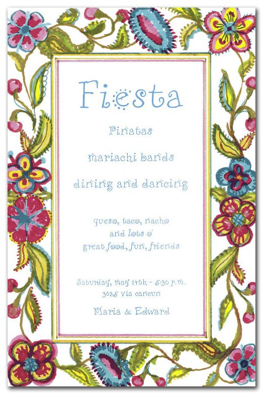 Spanish crewel party invitations spanish and spanish holidays spanish birthday invitation verses party invitations party invitations for all occasions spanish crewel filmwisefo