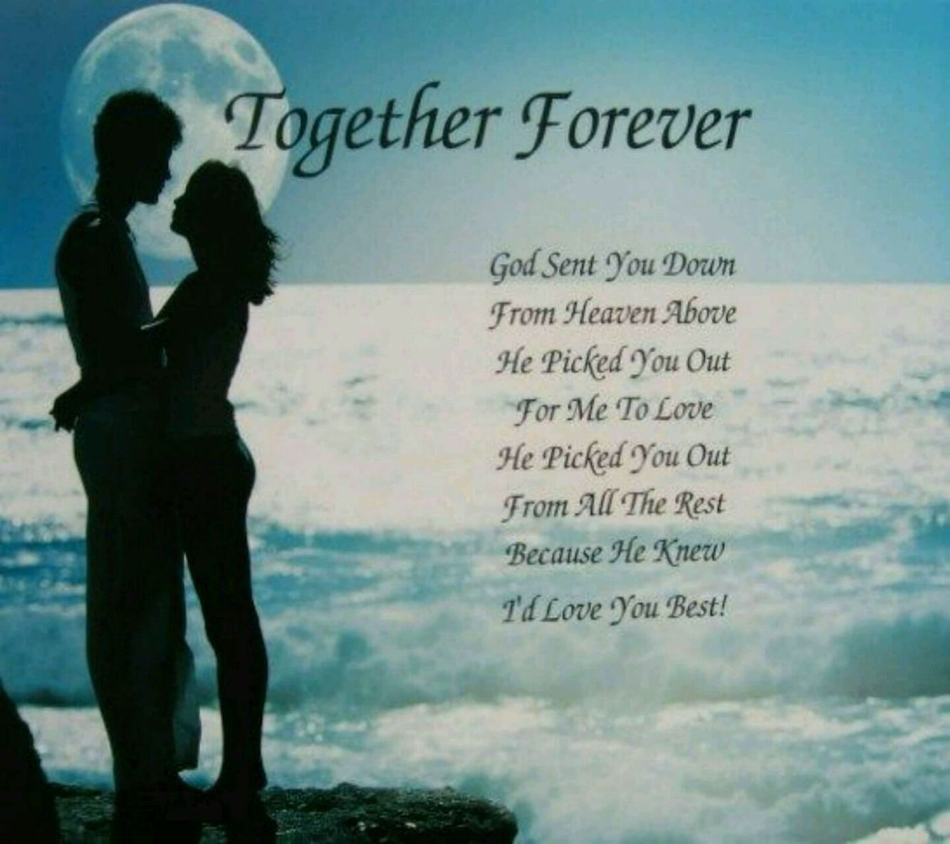 Together forever  Happy anniversary to my husband, Great love