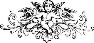 Ангелы. Графические рисунки. Книжная старинная графика. Клипарты.: ♥ Creative NN. Блог Альбины Рассеиной. ♥