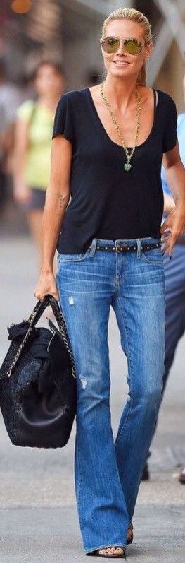 Flare jeans are making a comeback! Thanks, Heidi!