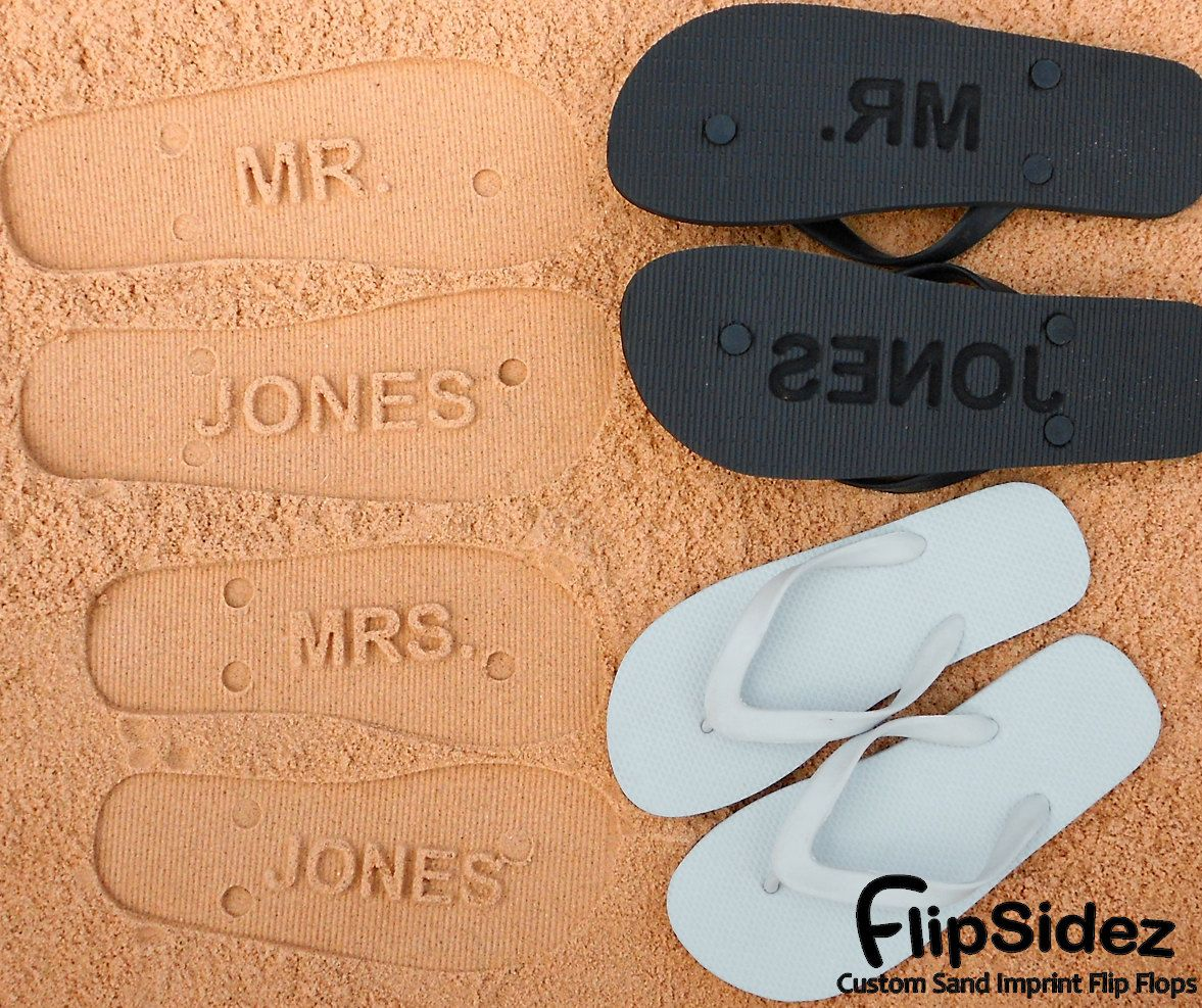 cc1c2e8418f5ff Personalized Bridal Flip Flops for Beach Wedding. Personalize With Your  Designs..  19.95