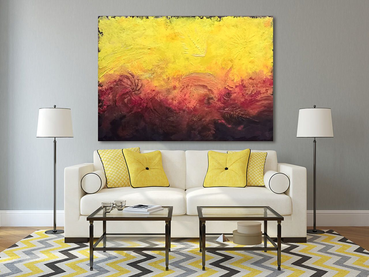 Large Original Abstract Painting 30x40\