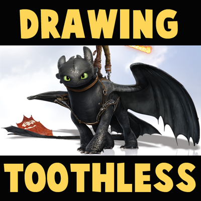 How to Draw Toothless from How to Train Your Dragon 2 in Easy Step