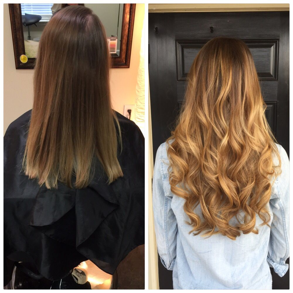 Before and after balayage hair painting and 20 fusion extensions before and after balayage hair painting and 20 fusion extensions for length and volume pmusecretfo Images
