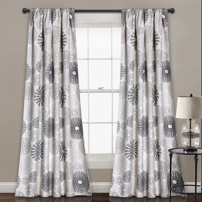 958aec198e7 Totterdown Nature Floral Room Darkening Thermal Rod Pocket Curtain Panels  (Set of 2)