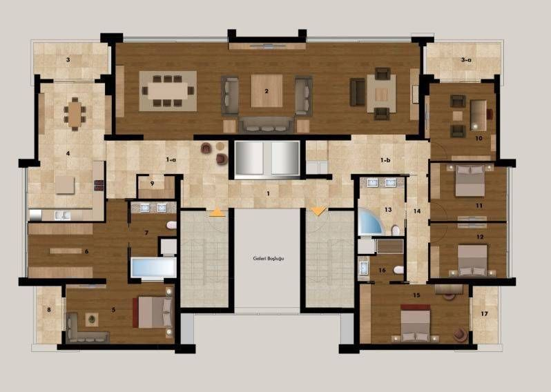 luxus bungalow grundrisse hausgrundriss in 2018 pinterest bungalow house und architecture. Black Bedroom Furniture Sets. Home Design Ideas