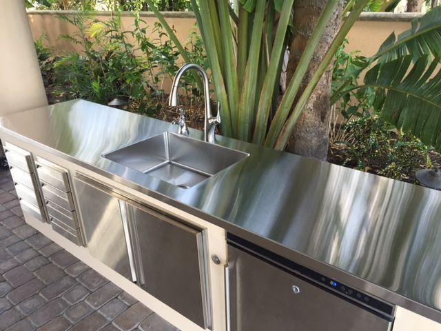 When Creating An Outdoor Kitchen Stainless Steel Countertops And