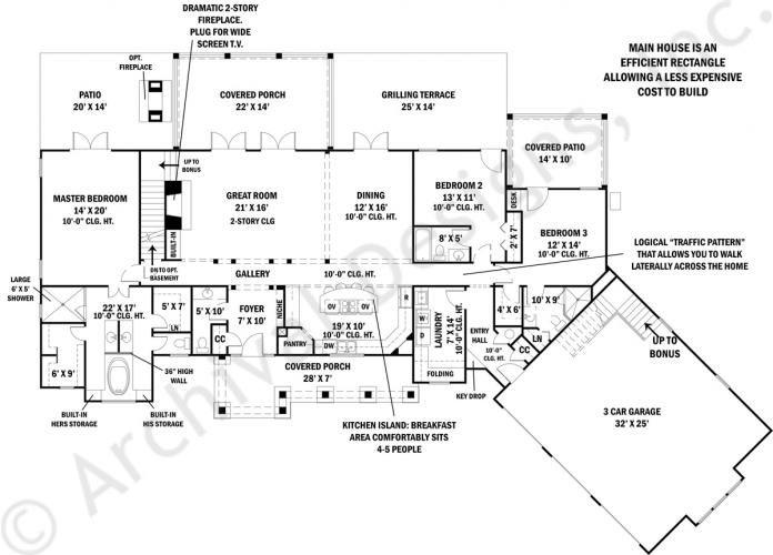 tres le fleur | ranch home plans | small luxury house plans | house