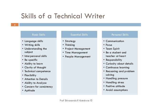Skills  Technical Writing    Technical Writing