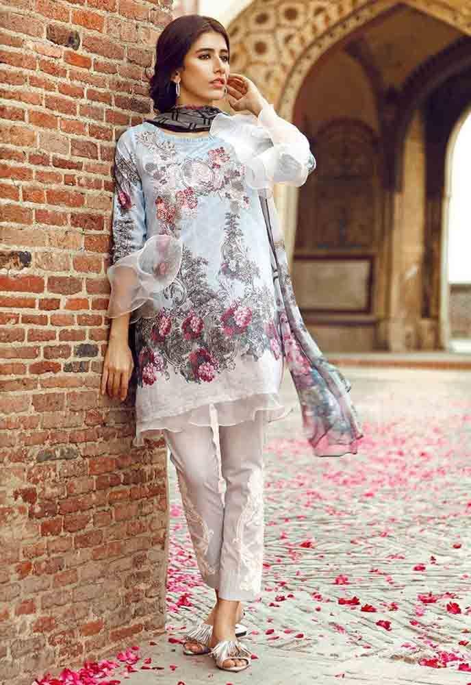 bb75488d5a Cross Stitch white shirt new eid dress designs for girls in Pakistan 2017  Pakistani Casual Wear