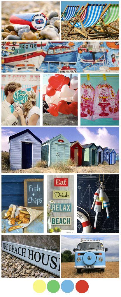 Seaside Mood Board Boho Bride
