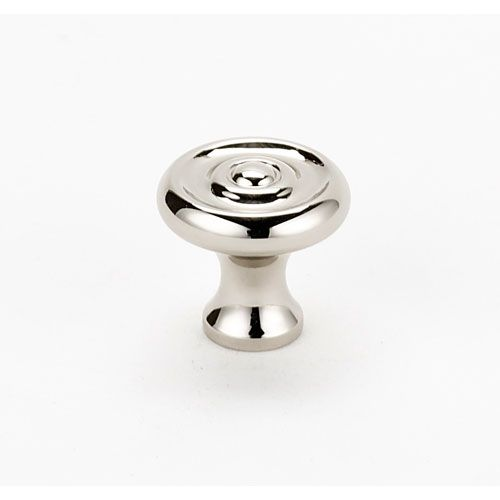 Polished Nickel 3/4 Inch Knob Alno, Inc. Knob Round Cabinet Hardware & Knobs Kitchen