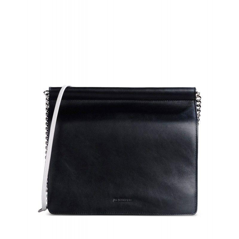 Jil Sander Two-Tone Leather Shoulder Bag