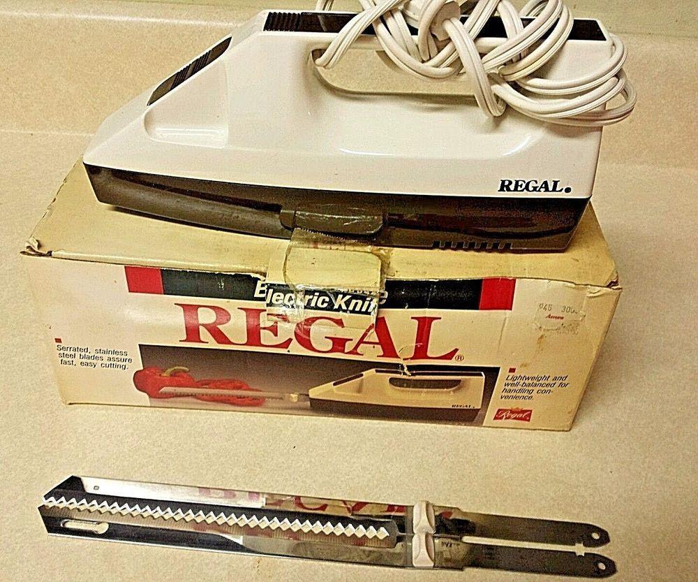 Vintage Regal Electric Knife V382 Serrated Stainless Steel Blades Regal Electric Knife Electricity Vintage