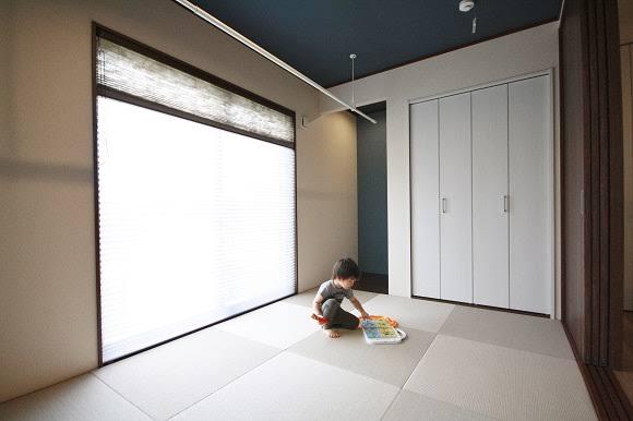 和室 天井クロス 紺色 Google 検索 住宅 和室 注文住宅
