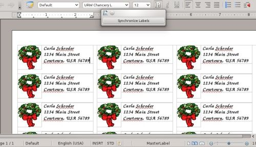 Making address labels with LibreOffice Other Pinterest - Return Address Label Template