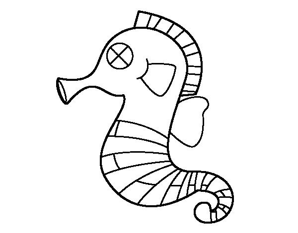 Dibujo De Caballito De Mar Bebe Para Colorear Caballito De Mar