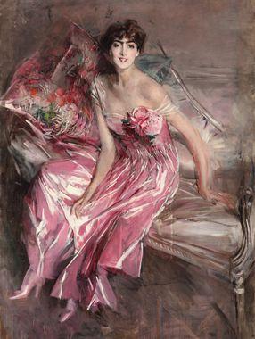 La Signora in rosa. Giovanni Boldini.
