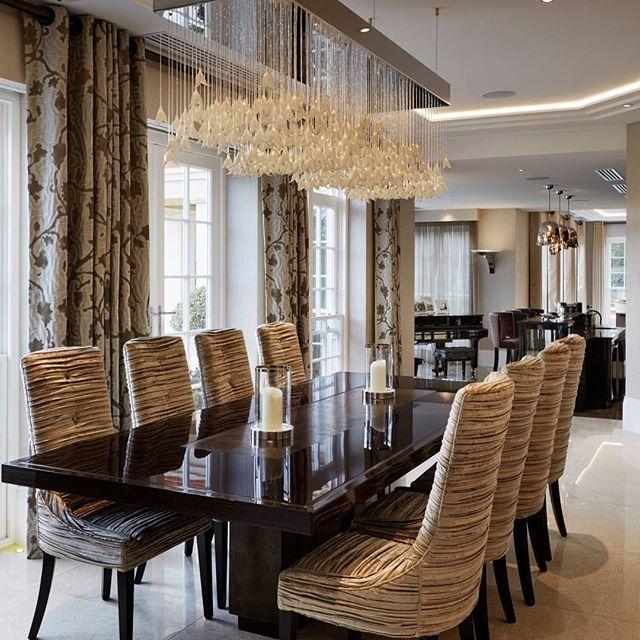 Houzz On Instagram Diningroom Home Bedroom Homedecor Bathroom Apartment Gard Interior Design Dining Room Dining Room Design Luxury Luxury Dining Room
