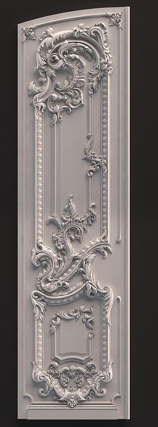 Rococo design- the very detailed design on the panel shows the Rocco design style & Rococo design- the very detailed design on the panel shows the ... Pezcame.Com