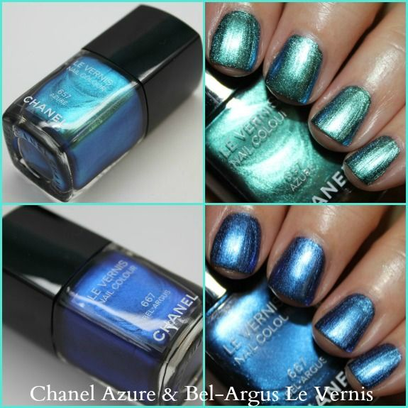 Chanel Azure and Bel-Argus Le Vernis   www.vampyvarnish.com