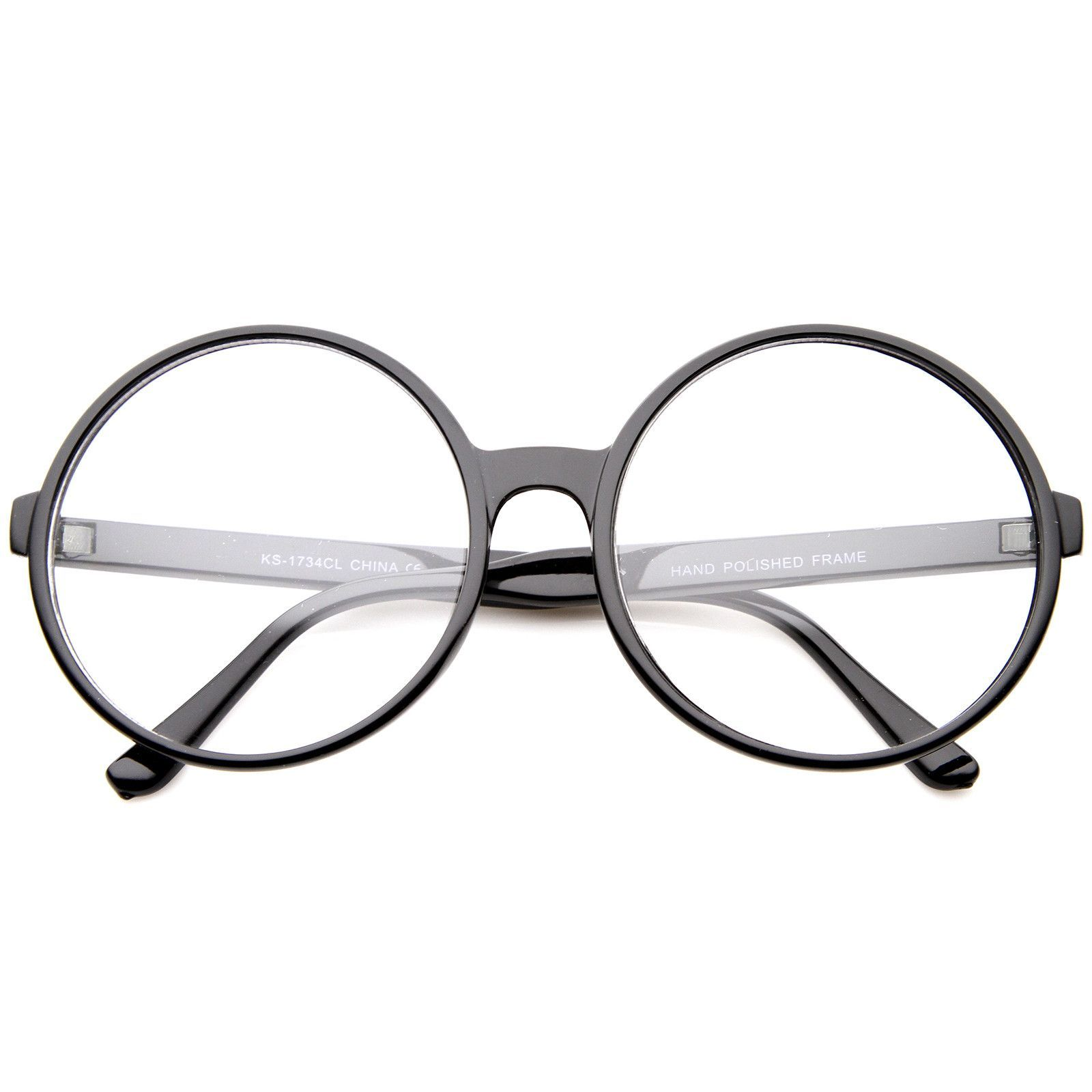 2605de858 Retro Oversize Clear Lens Round Spectacles Eyewear Glasses 60mm #bold # oversized #frame #clear #mirrored #womens #purple #cateye #sunglasses  #sunglass
