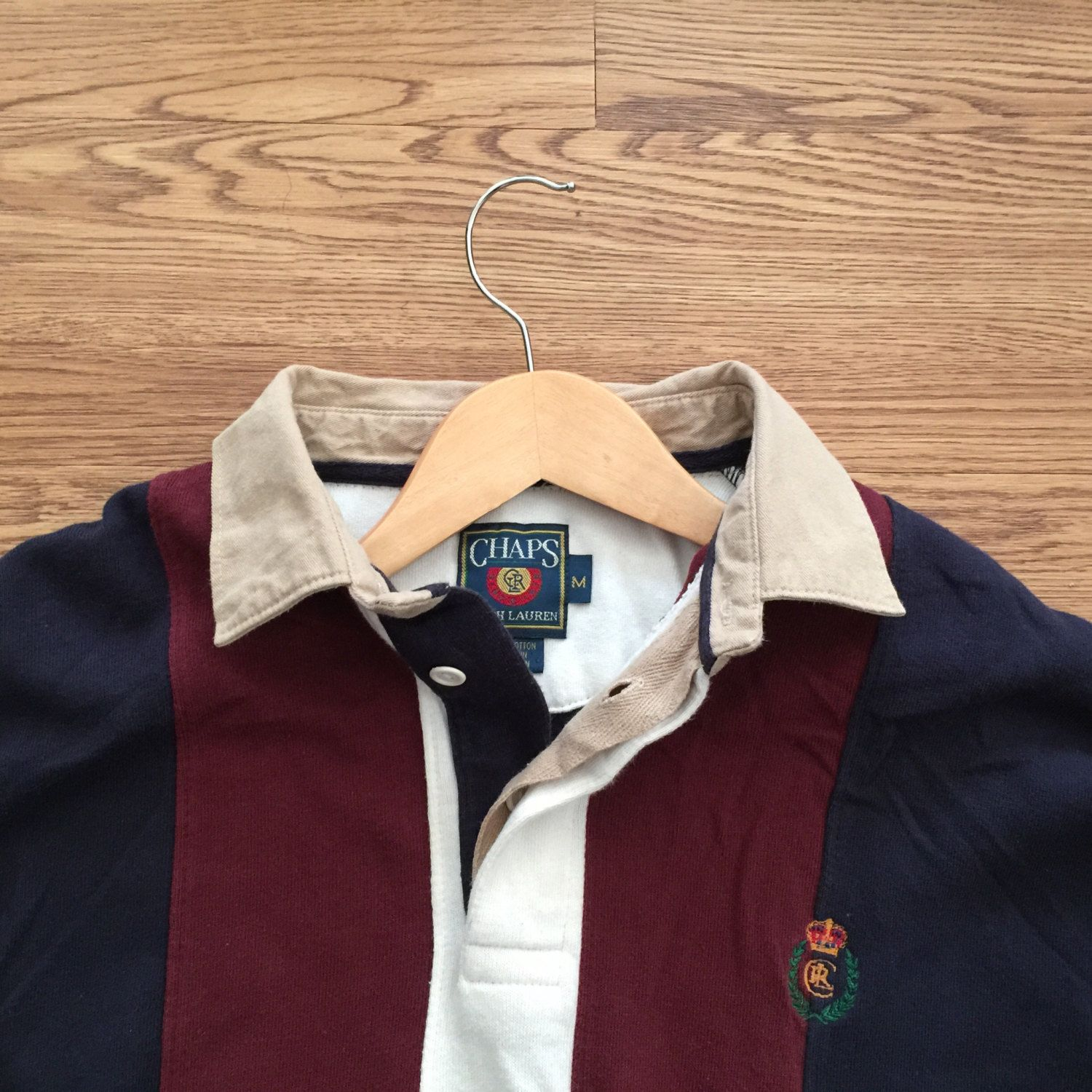 d736b708b2 Vintage Ralph Lauren x Chaps Long Sleeve Polo Shirt by VNTGvault on Etsy