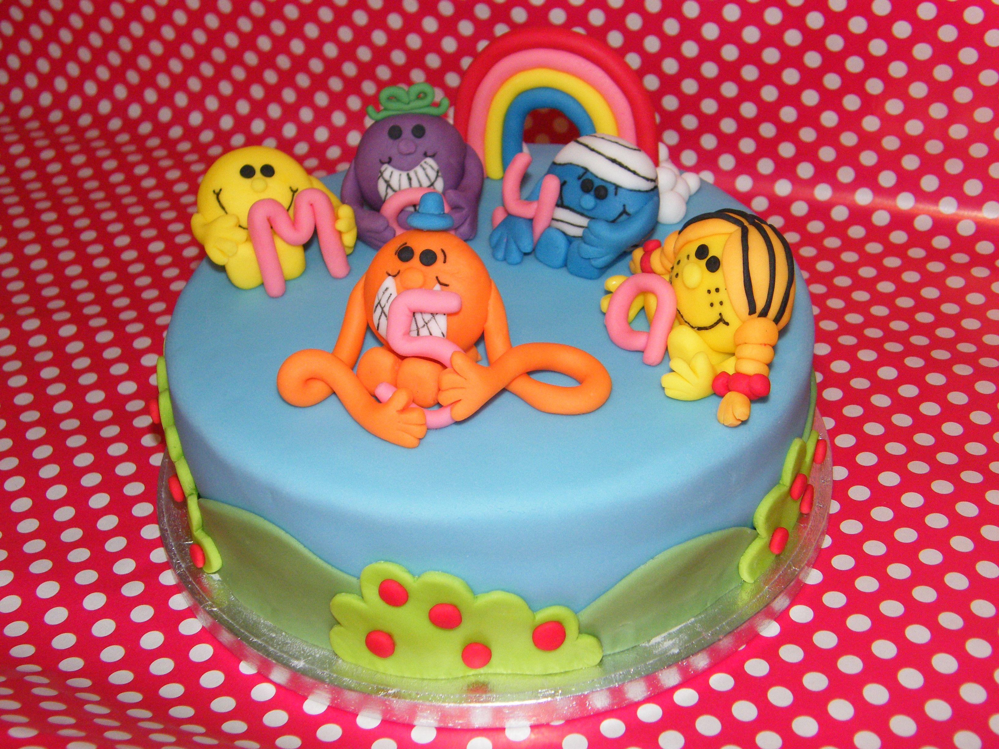 Mr Men And Little Miss Cake Joshi Nd Party Ideas Pinterest - Little miss birthday cake