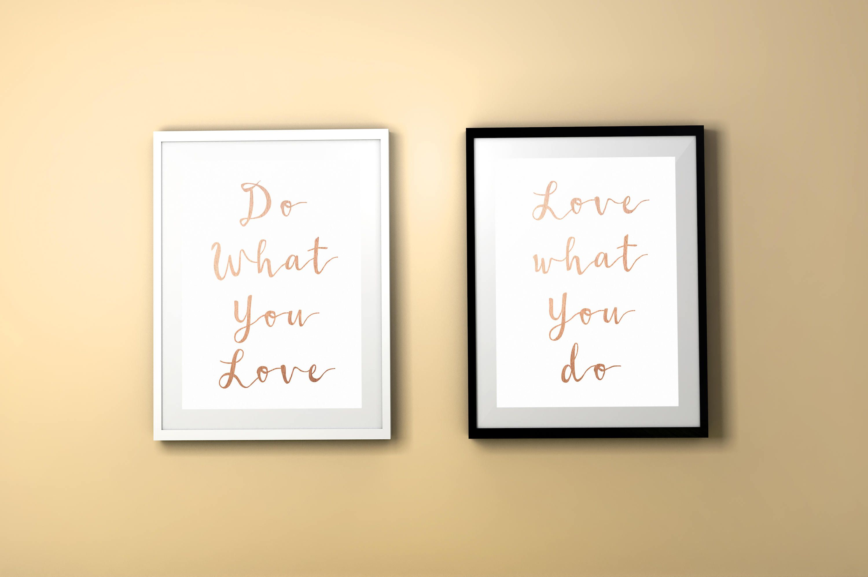 Do what you love love what you do rose gold printableprintable