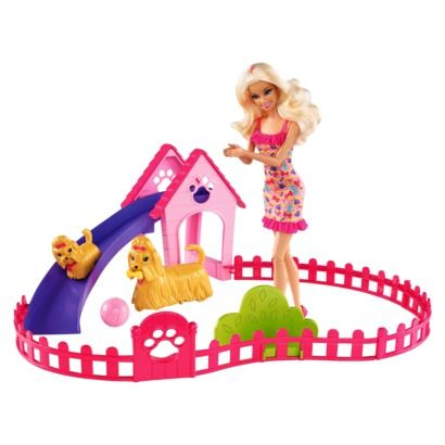 Barbie Puppy Play Park And Barbie Doll Giftset Kids