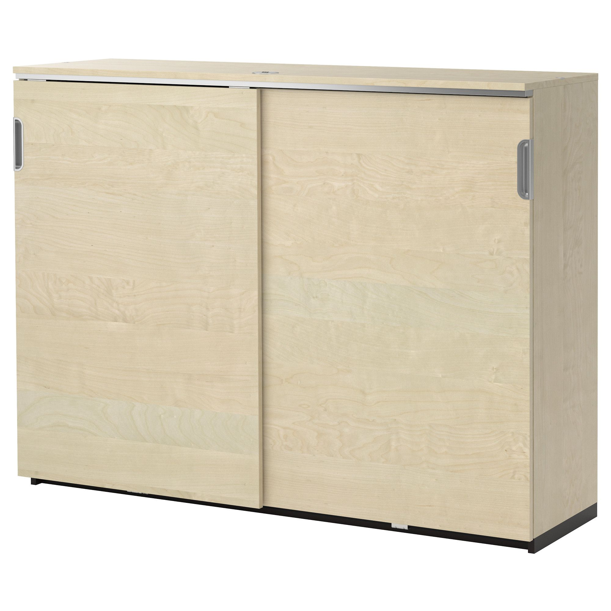 Sliding Cabinet With Lock Galant Doors Birch Veneer Ikea