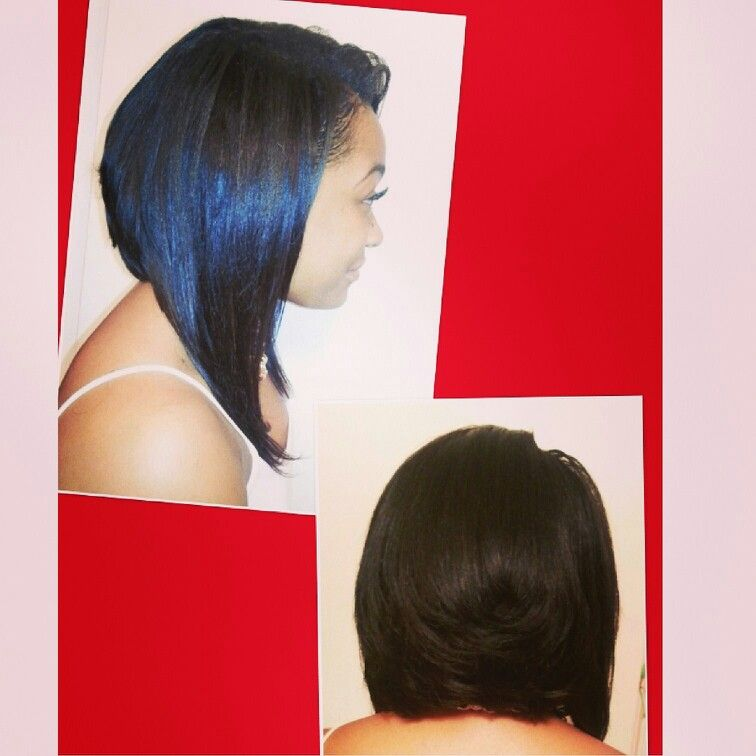 Partial Sew In Bob With Layers