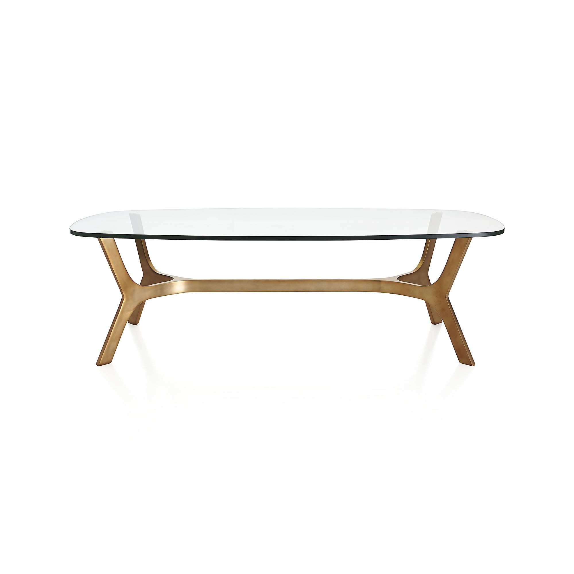 elke glass coffee table in coffee tables crate and barrel leo 39 s room pinterest oval. Black Bedroom Furniture Sets. Home Design Ideas