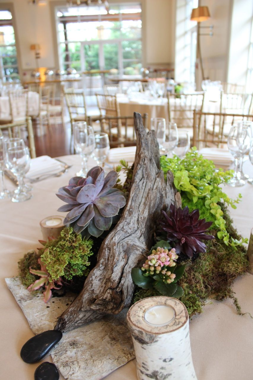 Succulent Wedding Decor At The Stone House At Stirling Ridge Warren New Jersey Succulent