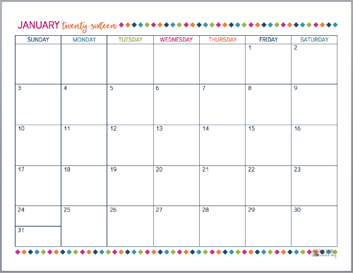 This Post Is Packed With Free Printables To Help You Create Your Own Beautiful And Org Calendar Printables 2016 Calendar Printable Free Free Printable Calendar