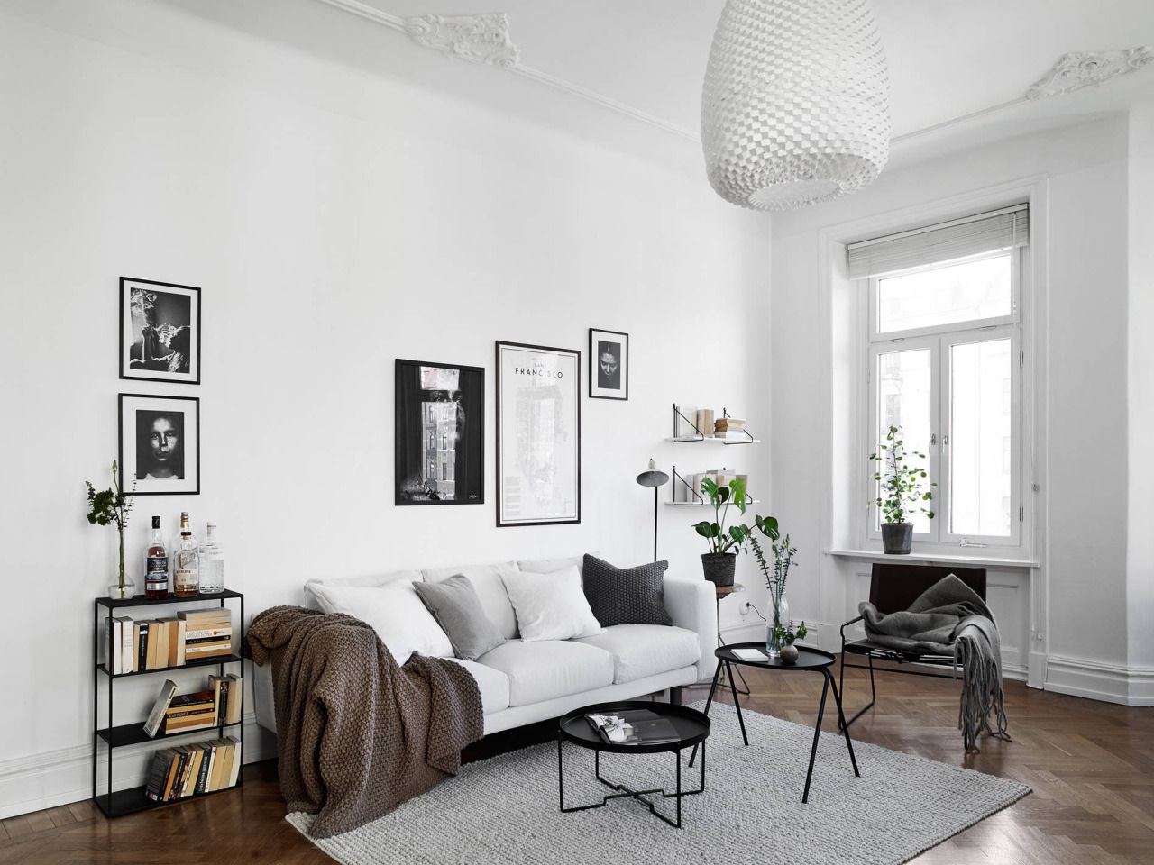 Black and white Scandinavian living room. Are you looking for unique ...