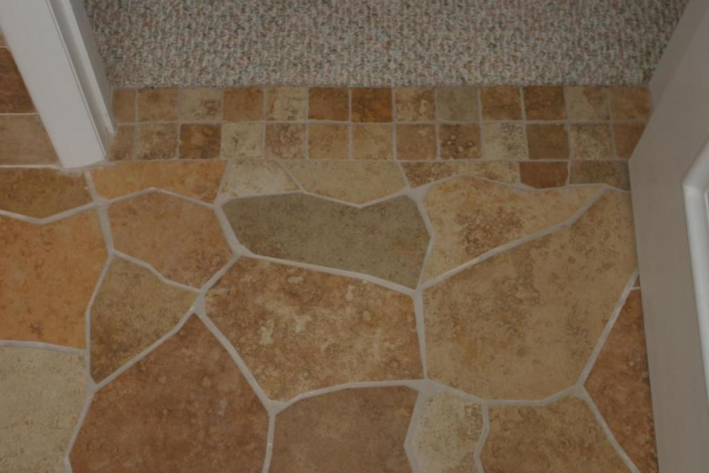 Classical Broken Tile Design Patterned Floor Tiles Porcelain Flooring Images Of Small Bathrooms