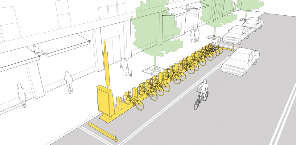 Bike Corrals Explained And Illustrated In The Natco Urban Street Design Guide Click On Image