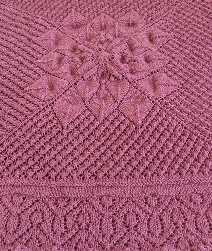 Free Knitting Pattern For Floralized Throw Lace Square Afghan Knit