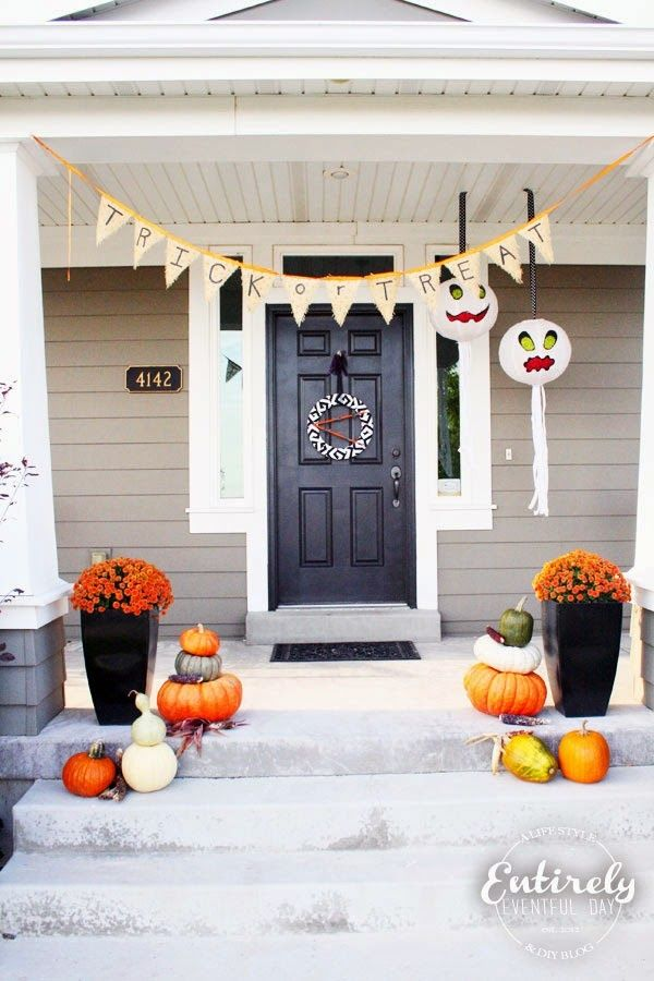 13 Not-So-Scary Halloween Porches Pinterest Halloween porch and - not so scary halloween decorations