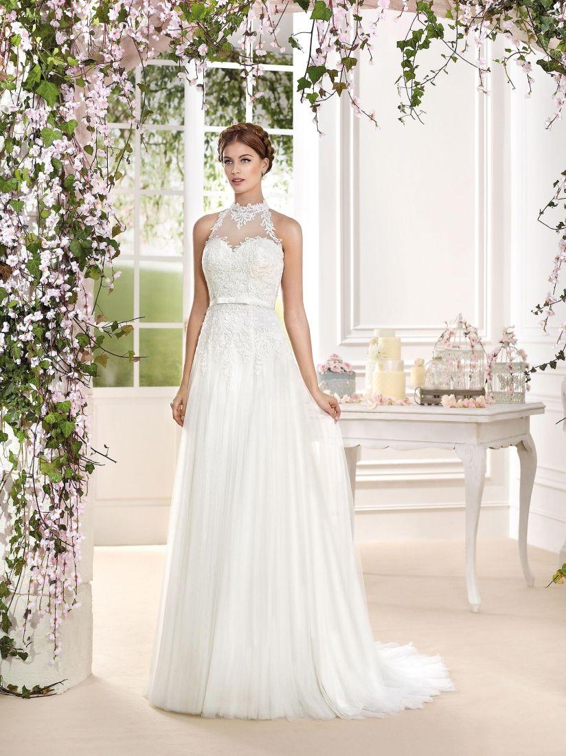 2016 Elegant Column Tulle Wedding Dresses for Spanish Greek Goddess ...
