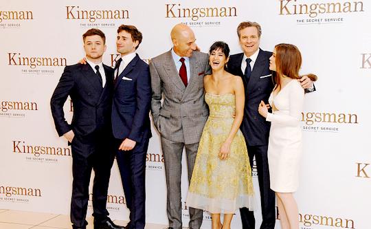 Colin Firth Taron Egerton Sophie Cookson About Kingsman: Taron Egerton Lover