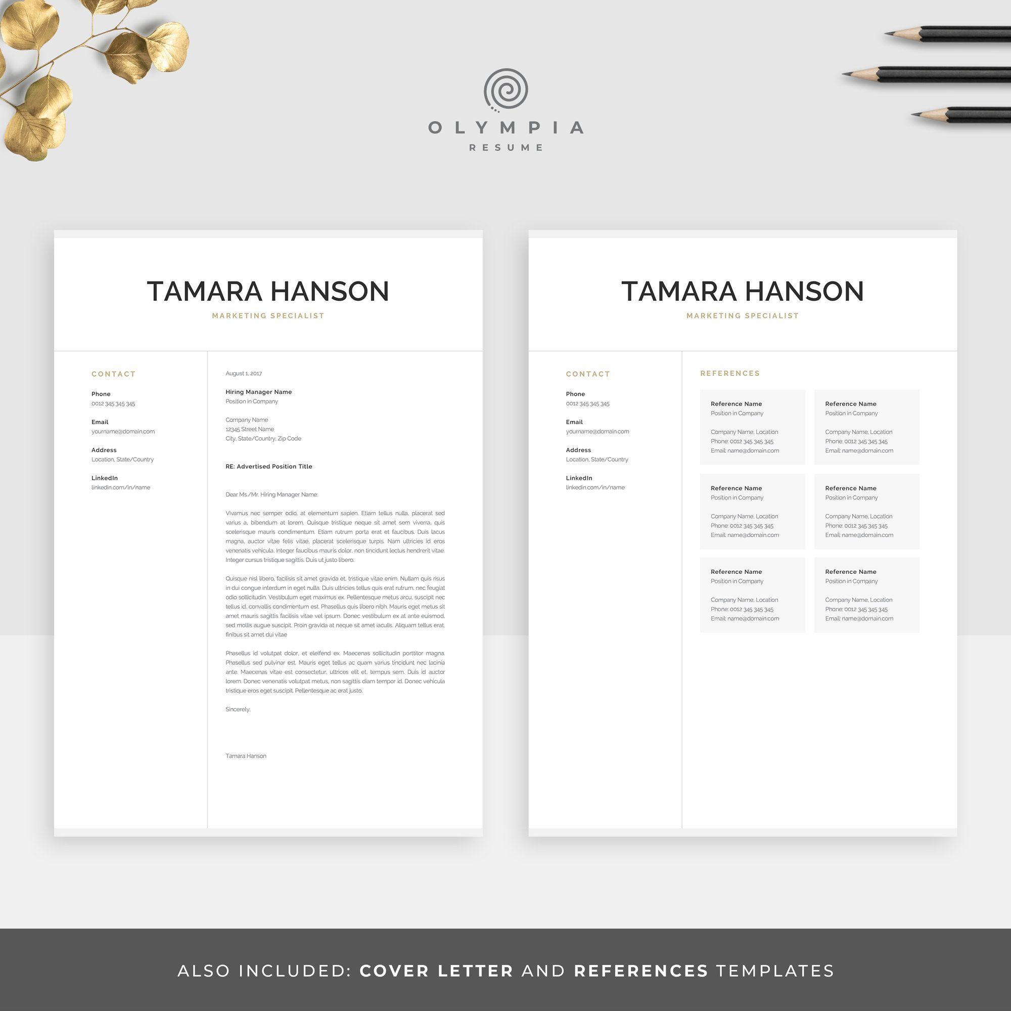 Modèle de CV professionnel pour word 'Pages' Reprise du