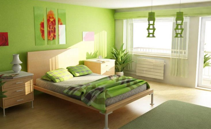 Top 20 Colorful Bedroom Design Ideas Bedroom Green Green