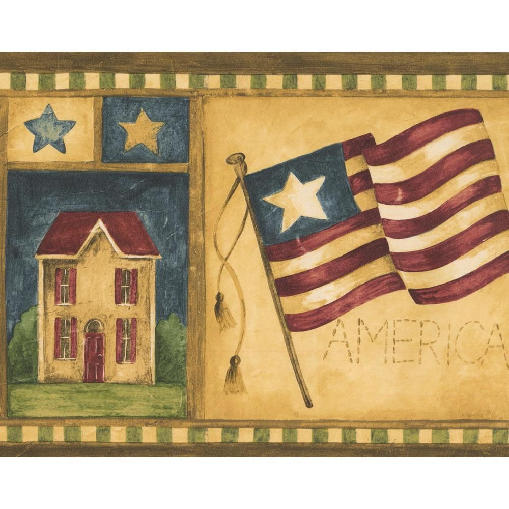 Norwall USA American Flags Pear Tree Cow Apple Patriotic