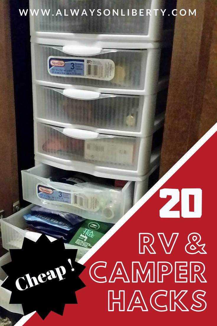 20 RV and Camper Hacks on a Dime | Camper | Camper hacks