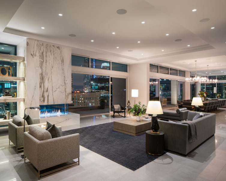 Level Downtown Los Angeles Penthouse Penthouse Living Formal Living Rooms Living Room Interior