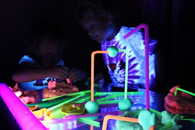 Make fluorescent playdough and play with under a blacklight! can ...