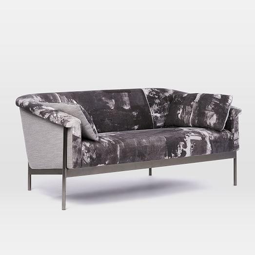 steel frame sofa 10 per month metal 67 rauschenberg print sofas pinterest