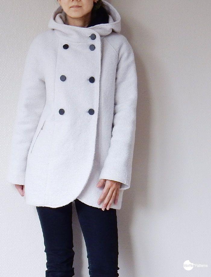 free customised sewing pattern / hood pattern for Yuzu coat / Waffle ...